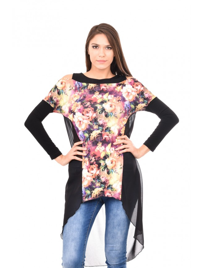 Floral tunic with long sleeves Nikita