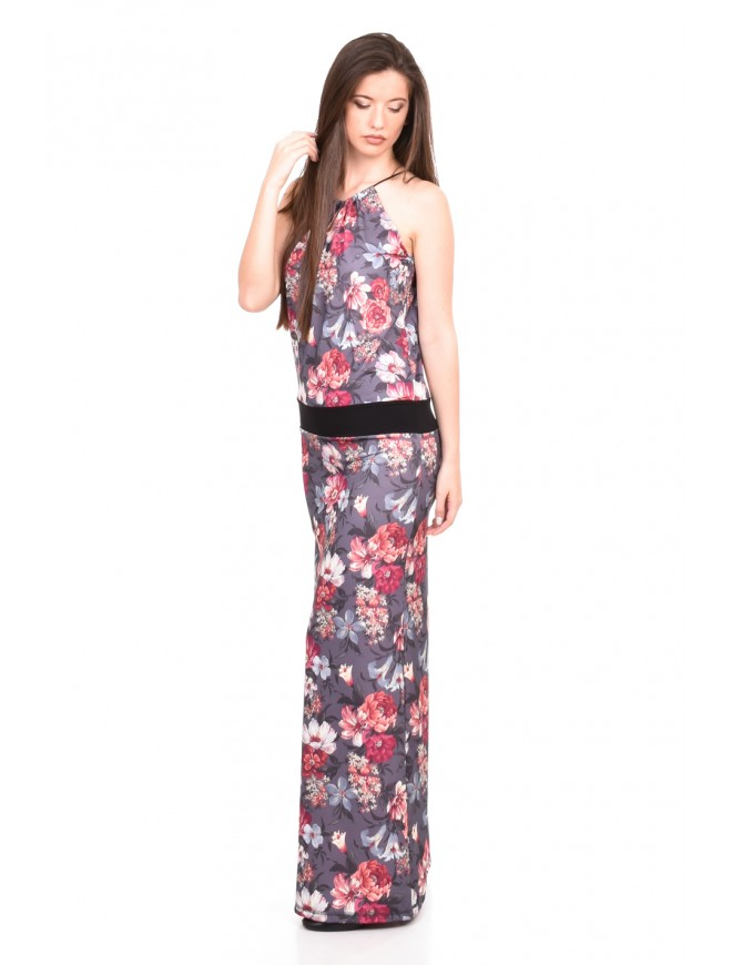Floral tunic with ties Delila