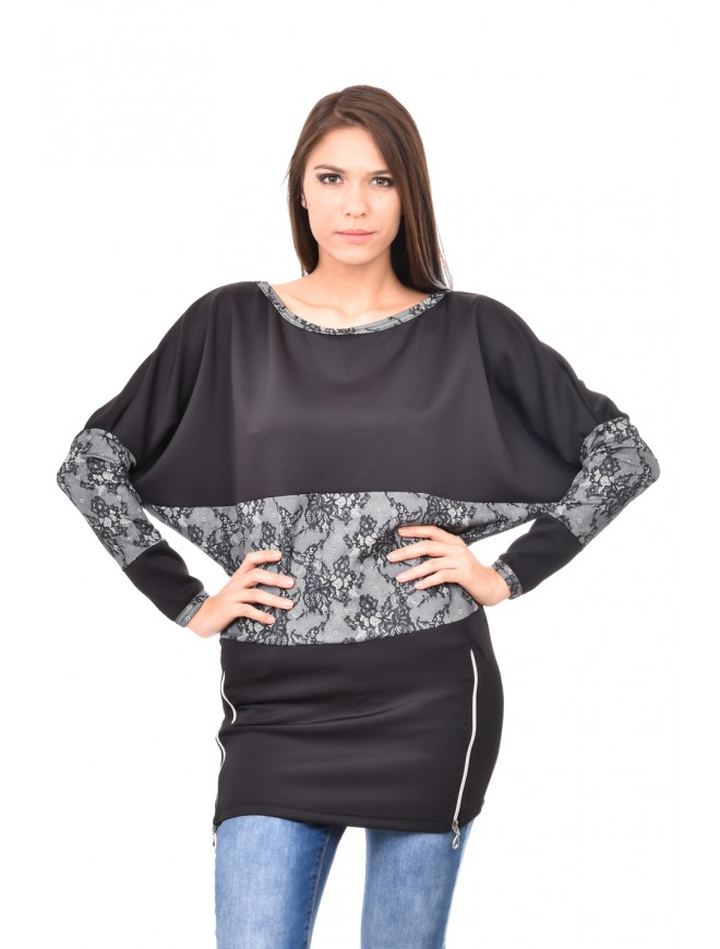 Neoprene tunic imitating lace Zori