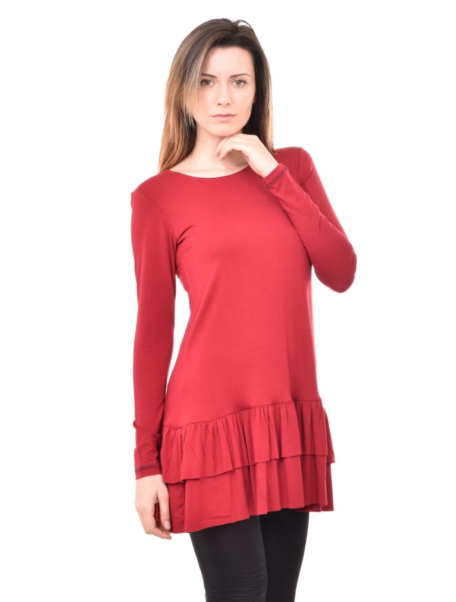 Jersey tunic in bordeaux Zerina