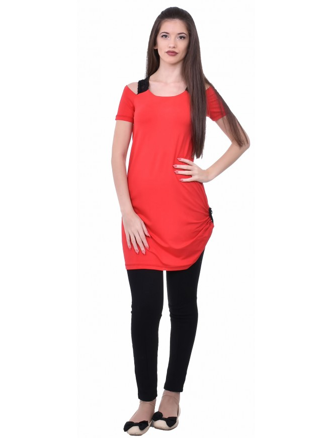 Evka Tunic with Short Sleeves