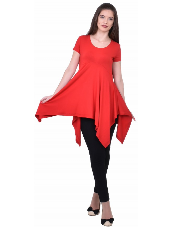 Suzan Tunic with Short Sleeves