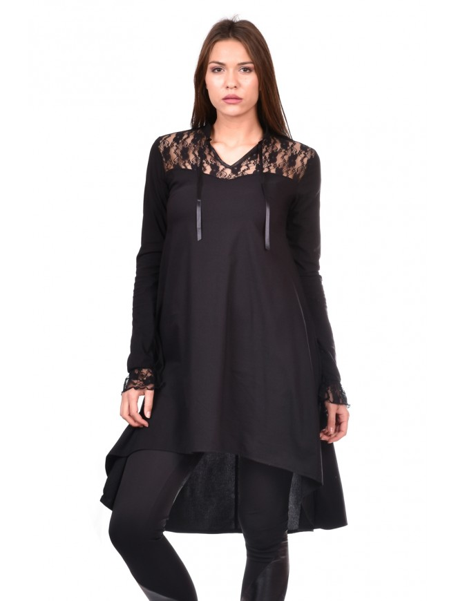 Tunic in black Blagoveska