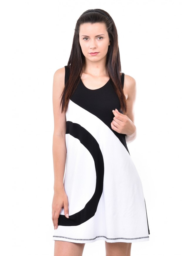 Tunic in Black and White Yulina