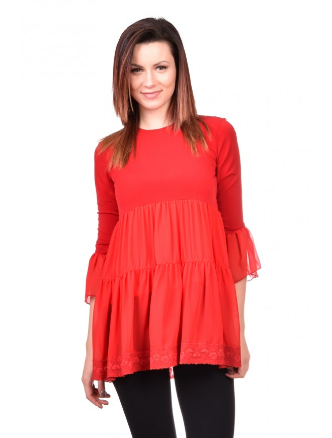 Tunic in red Radoslava
