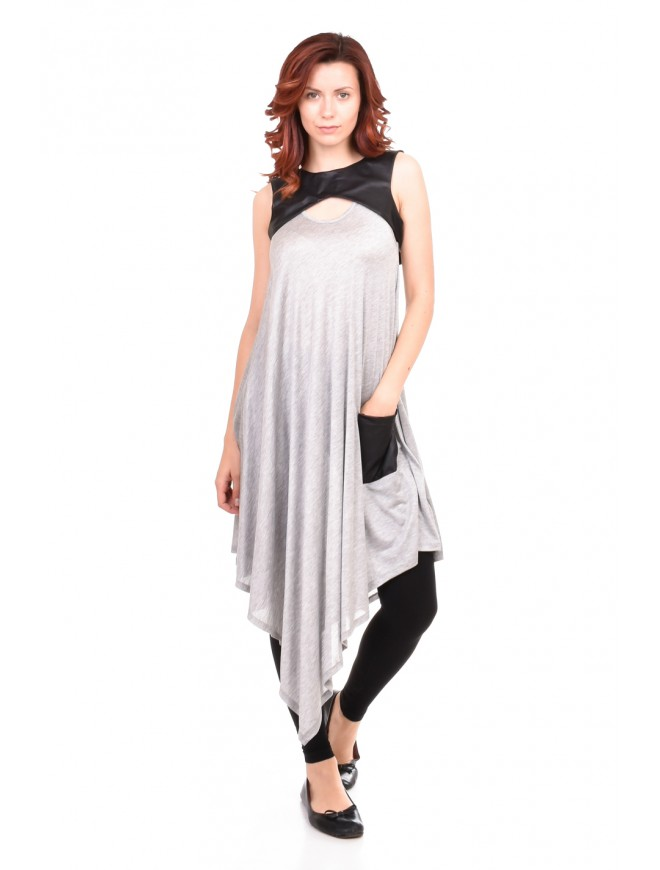 Women tunic in gray colour