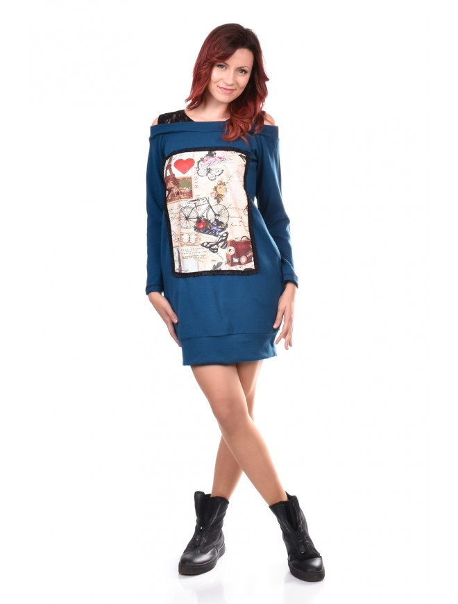 Tunic in Dark Blue Iolinita