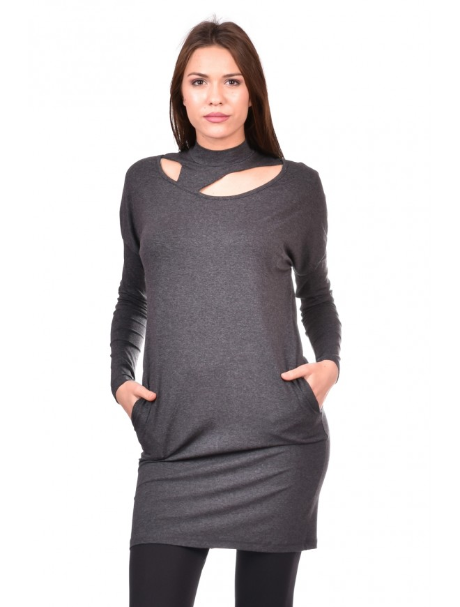 Tunic in dark gray Vangelitsa