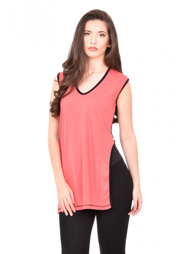 Tunic in watermelon colour Siliana